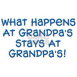 Stays At Grandpa's Ash Grey T-Shirt