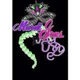 mardi gras design card Water Bottle