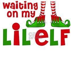 Waiting on Little Elf Long Sleeve Maternity T-Shir