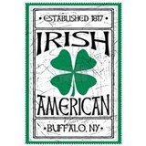 IrishAmericanBuffBlk Water Bottle