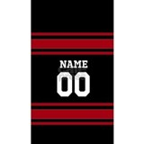 Sports Jersey Black Red Water Bottle