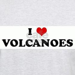 I Love VOLCANOES Ash Grey T-Shirt