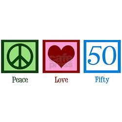 Peace Love 50 Long Sleeve Maternity T-Shirt