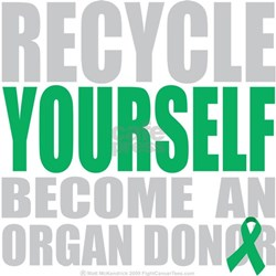 Recycle-Yourself-Organ-Donor-blk Shirt