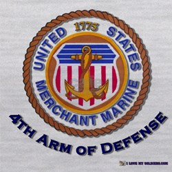 merchant Marine 4th arm.png Maternity Tank Top
