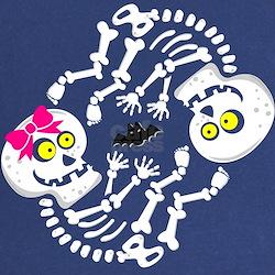 Skeleton Twins Halloween Maternity Cute Baby Skele