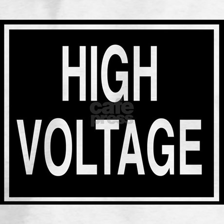 High Voltage sign Hoodie by bysandra