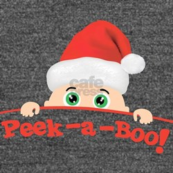 Peek a Boo Christmas Long Sleeve Maternity T-Shirt