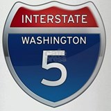 Interstate 5 - Washington Drinking Glass
