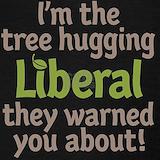 Tree hugging liberal Tank Tops