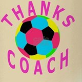 Thank You Soccer Coach Keepsake Gif Drinking Glass