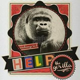 Endangered-Gorilla-1 Drinking Glass