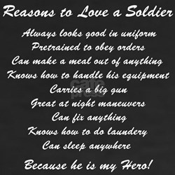 Reasons to Love a Soldier Shirt