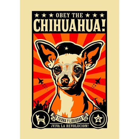 Obey the Chihuahua! Propaganda Magnet by dogs_of_war