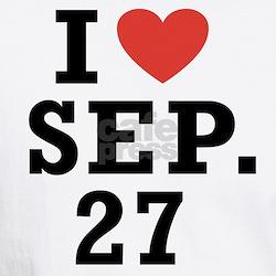 I Heart September 27 Shirt