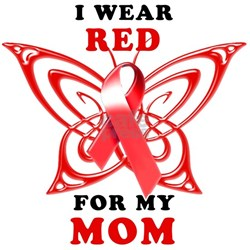 I Wear Red for my Mo Long Sleeve Maternity T-Shirt