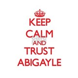 Keep Calm and TRUST Abigayle Water Bottle