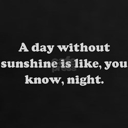 A day without sunshine is lik Tee