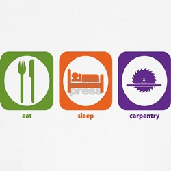 Eat Sleep Carpentry Kids T-Shirt