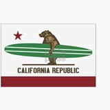 California Surfing Bear Longboa Ceramic Travel Mug