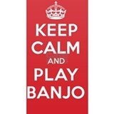 Keep Calm Play Banjo Water Bottle