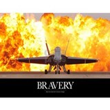 Military Motivational Poster: Brave Men Mug