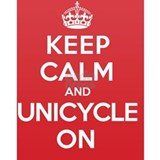 Keep Calm Unicycle Water Bottle