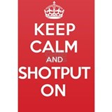 Keep Calm Shotput Water Bottle
