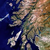 True-colour satellite image of western  Shot Glass