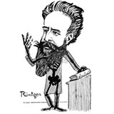 Caricature of Roentgen Water Bottle
