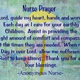 Nurse prayer blanket BLUE Drinking Glass