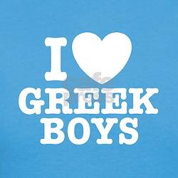I Love Greek Boys Tee