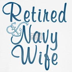 Cute Retired navy wife Tee