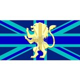 Union Jack Lion Rampant Blue Mug