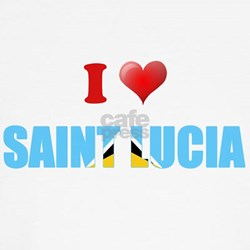 I love Saint Lucia Kids T-Shirt