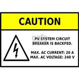 Solar PV Circuit Breaker Warning Mug