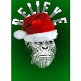 Funny Sasquatch Santa  Water Bottle