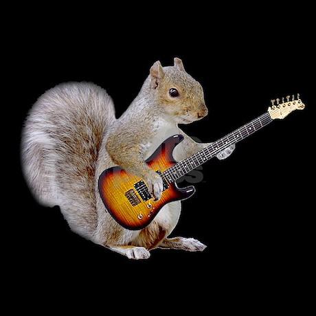 Squirrel Guitar Tee by superflyteez