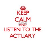 Keep Calm and Listen to the Actuary Water Bottle