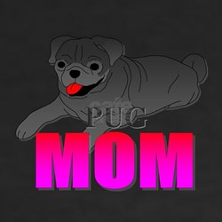 Black Pug Mom Shirt