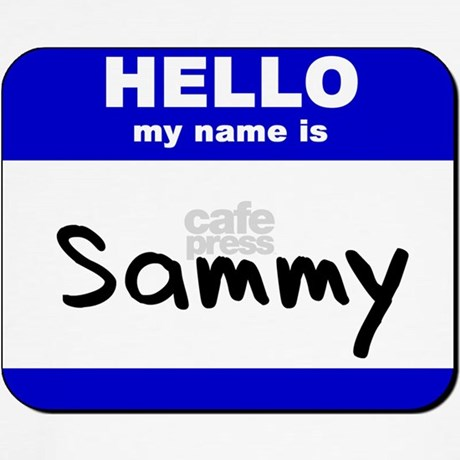 hello my name is sammy Throw Pillow by nameworld