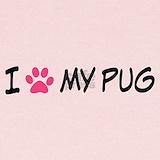 I heart my pug Baby Hats