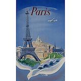 Eiffel tower vintage Wall Decals