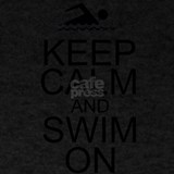 Keep calm and swim T-shirts