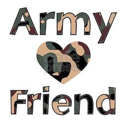 Army Friend Heart Camo T-Shirt