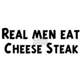 Men eat Cheese Steak Mug