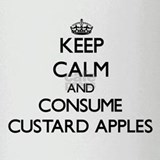 Keep calm and consume Custard Apples Drinking Glas