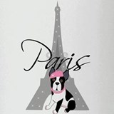 Boston Terrier In Paris Drinking Glass