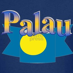 Palau flag ribbon T