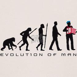evolution of man accordion player T-Shirt
